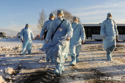 Учения экстренных служб, аэропорта имени Игоря Курчатова. Челябинск, мчс, эпидемия, карантин, медики, ликвидаторы, защитная одежда, защитные халаты