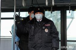 Учения экстренных служб, аэропорта имени Игоря Курчатова. Челябинск, полиция, медицинские маски