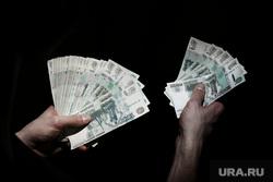 Клипарт по теме Деньги. Москва, пачка денег, банкноты, деньги, рубли, тысячные купюры, веер купюр