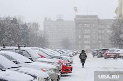 Утренний снегопад. Челябинск, снегопад, автотранспорт, мэрия челябинска