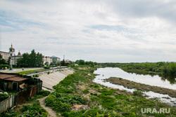 Виды города. Шадринск , река исеть, набережная, город шадринск