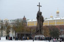 Памятник князю Владимиру. Москва, кремль, боровицкая площадь