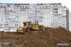 Ремонтные работы на ул. Мальцева. Курган, дорожная техника, ремонтные работы, ул мальцева