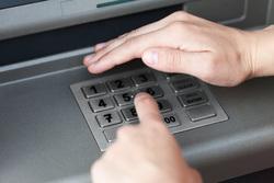 Клипарт depositphotos.com, банкомат, снятие денег, банковские операции, снятие наличных, ввод пароля
