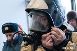 Пожарно-тактические учения МЧС на территории ТЦ ГиперСити. Курган, мчс, пожарные, панорамная маска, маска пожарного