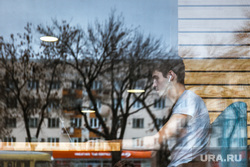 Виды города. Екатеринбург, ноутбук, отражение, кафе, фриланс