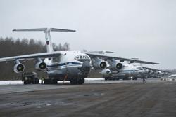 Экипажи ВТА вернулись в пункты постоянной дислокации после летно-тактических учений , военный самолет