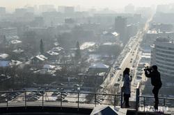 Виды Екатеринбурга, крыша, новости, съемка, журналисты, телевидение, городской пейзаж