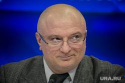 Сенатор Андрей Клишас на прессконференции в МИА