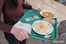 Столовая в промышленном техникуме. Курган, салат, борщ, столовая, еда, школьная столовая, питание, школьное питание