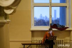XXXIV конференция свердловской ЕР. Екатеринбург, университет, ноутбук, студентка, город екатеринбург, окно
