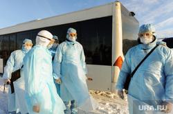 Учения экстренных служб, аэропорта имени Игоря Курчатова. Челябинск, эпидемия, ликвидаторы, защитная одежда, коронавирус, защитные костюмы