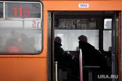 Виды Перми, общественный транспорт, пассажиры