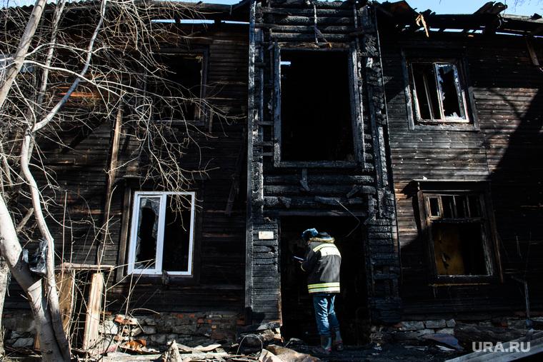 Последствия пожара на улице Омская, 91. Екатеринбург