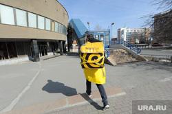 Виды города во время эпидемии коронавируса. Челябинск, эпидемия, пустой город