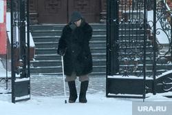 Мороз. Курган, пенсионер, зима, холод на улице, мороз