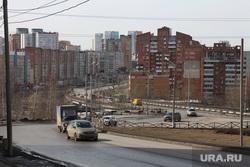Городской траффик во время нерабочих дней точки съемки понедельник Пермь, средняя дамба пермь