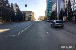 Улицы города. Площадь Революции. Челябинск, проспект ленина, пустые улицы