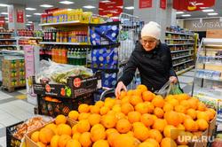 Супермаркет «Магнит». Челябинск, торговля, продукты, фрукты, апельсины, супермаркет магнит, еда, продуктовый магазин, полки магазина