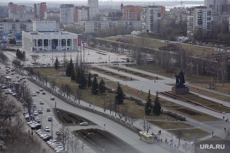 Строительство фонтана на городской эспланаде. Пермь