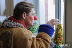Настоящий Дед Мороз из Великого Устюга в спецшколе-интернате 12. Челябинск, елка, клоун