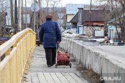 Виды города. Курган., пенсионерка, мост, кировский мост, дача, частный дом, бабушка, дачный кооператив