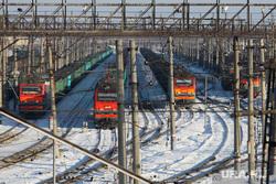 Железнодорожный вокзал. Курган, поезда, зима, жд вокзал
