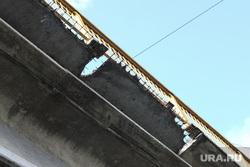 Аварийное состояние Некрасовского моста. Курган, мост, некрасовский мост, развал дорожных плит, аварийное состояние моста