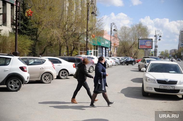 Обстановка с парковочными местами в городе во время карантина. Тюмень