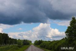 Пресс-тур на промышленное освоение Хохловского месторождения урана. Шумихинский район, туча, лето, плохая погода, природа, дорога, лоно природы