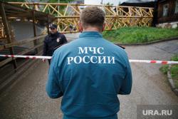 Падение строительного крана на улице Решетникова 17. Пермь, мчс, проишествие, падение крана