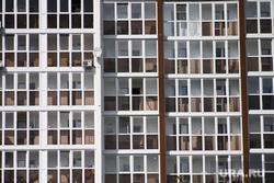Виды города. Курган, многоэтажка, новострой, балкон, окна, многоквартирный дом, жилой дом