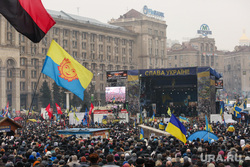 События на Майдане. Киев, флаг украины, майдан, киев, революция, правый сектор, протест, площадь независимости, народное вече