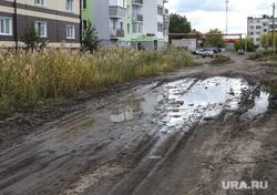 Рейд с дорожной инспекцией ОНФ по карте убитых дорог. Курган, грунтовая дорога, лужа, бездорожье, размытая дорога, ул калинина