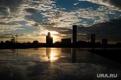 Виды Екатеринбурга, отражение, небо, город екатеринбург, закат, екатеринбург сити