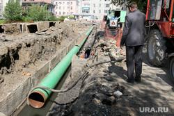 Пресс-тур раскопки КГК Курган, ремонтные работы, замена труб