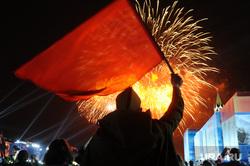 Концерт и салют на Красной площади. Москва, праздник, салют, 9 мая