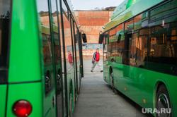 Передвижная газозаправка на АТП-6 для белорусских МАЗов к ЧМ-2018. Екатеринбург, общественный транспорт, метан