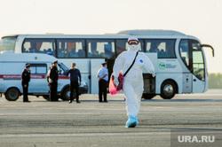 В аэропорту Челябинска приземлился «Суперджет» с вахтовиками Чаяндинского месторождения Якутии. Челябинск, эпидемия, защитная маска, эпидемия осталась, медики, инфекционист, инфекционист, эпидемиолог, пандемия коронавируса