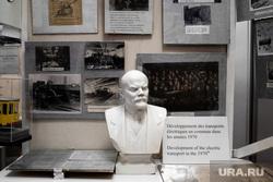 Музей истории Трамвайно-троллейбусного управления. Екатеринбург, бюст ленина, тту, музей истории трамвайно троллейбусного депо