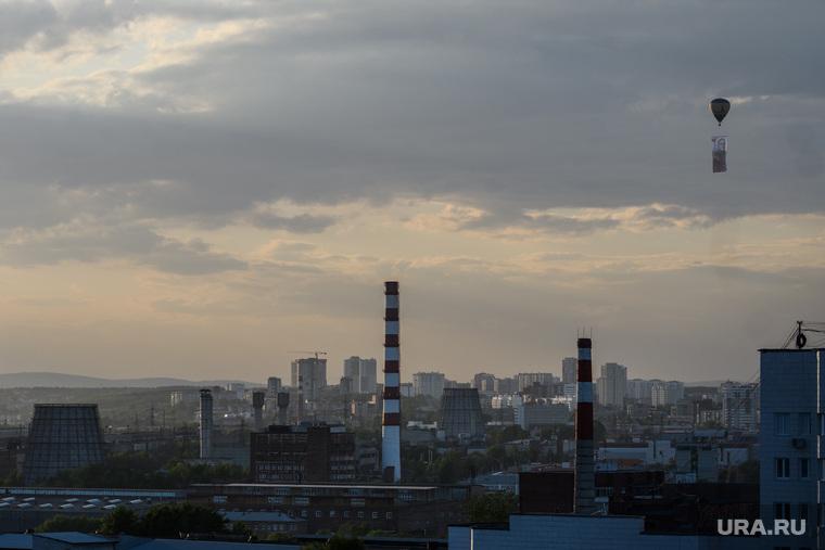 Запуск воздушного шара с портретом маршала жукова. Екатеринбург