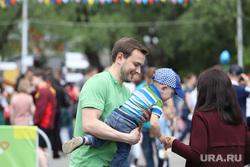 Зелёный марафон. Курган, отец с ребенком, ковалев владимир