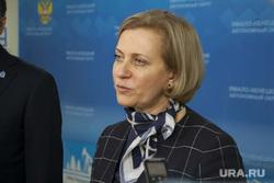 Пресс-подход Анна Попова и Дмитрий Кобылкин, портрет, попова анна