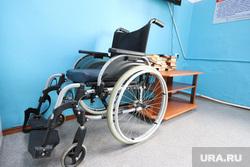 Визит врио губернатора Вадима Шумкова в Целинный район. Курган, инвалидная коляска, инвалидное кресло