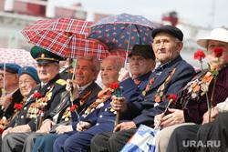 Военный парад посвященный Дню Победы. Курган, ветераны