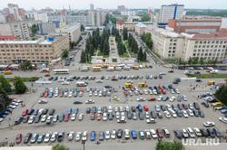 Виды Челябинска, парковка, город челябинск, вид сверху, университетская площадь