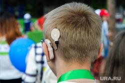 Зеленый марафон на легкоатлетическом стадионе имени Елесиной. Челябинске, слуховой аппарат, глухой
