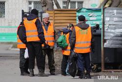 Патруль полиции в городе. Курган, чистый город, помойка, мусорная реформа, контейнер для мусора