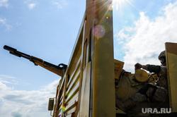 Антитеррористические учения «Мирная миссия - 2018». Челябинск, армия, пулемет, оружие, вооружение, война, Сирия