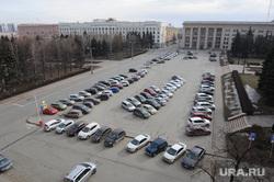 Городская администрация. Челябинск, стоянка, парковка, парковка у мэрии